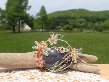 北海道オブシディアンの花籠style